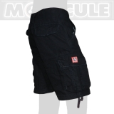 39.- € short model in black. 4 of the 6 pockets have flaps with bottons. You can store and carry lots of stuff ...