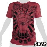 15.99 € Impalpable print: The eye in the palm of your hand, stands for the third eye, the sixth sense - wrinkle fabric shirt 100% cotton,