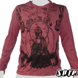 17,79 € Buddhist Monk on a grey shirt - Respect! - Impalpable imprint on a dark red longsleeve shirt 100% cotton.