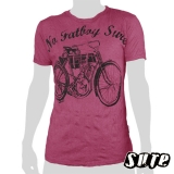 15.59 € T-shirt - No fatboy for sure with this fancy oldschool Harley Davidson bicycle on a dark red shirt. 100% cotton