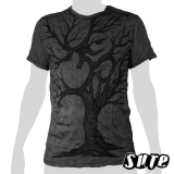 15,59 € wrinkle-fabric T-shirt 100% cotton. A beautifully sketched tree with an Om-symbol in its center.