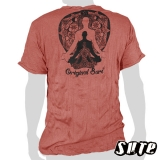 15,59 € wrinkle-fabric T-shirt 100% cotton. 3 Buddhas in different sizes sitting / meditating ...