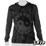 17.29 € long-sleeved hoody shirt 100% cotton. Yin & Yang are the two halves that complete wholeness together...