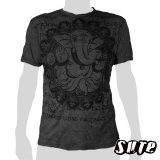 15.99 € size L wrinkle-fabric T-shirt 100% cotton. Ganesha sitting very relaxed in his favorite pose