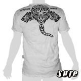 15.99 € size L wrinkle-fabric T-shirt 100% cotton. Like a mystical spirit Ganesha is illustrated here as a tribal Image.