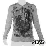 17.79 € size L hoody longsleeve-shirt 100% cotton. A huge beautiful Japanese Buddha statue placed in the middle of nature
