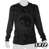 17.79 € size L hoody longsleeve-shirt 100% cotton. Yin & Yang are the two halves that complete wholeness together...