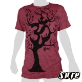 16.59 € size XL wrinkle-fabric T-shirt 100% cotton. A beautiful tree with an Om-symbol in its center.