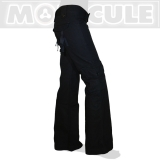 "38.- € ""Action / Vogue""  Molecule long Ladies cargo pants - fancy low cut flared pants 100% cotton."