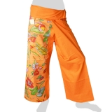 Fancy Thai Fisherman Pants - Tropical (orange)