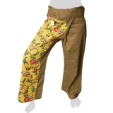 Fancy Thai Fisherman Pants - Cute Flowers (brown)