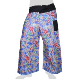 Thai Fisherman Wrap-Pants - Flower Sky