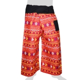 Thai Fisherman Wrap-Pants - Nooks & Circles (light red)