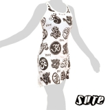 14,79 € Many Oms on a white summerdress - this very popular spiritual symbol and most sacred of all mantras adorned mandala-like..
