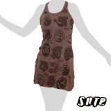 13,79 € Many Oms on a dark violet-grey summerdress - this very popular spiritual symbol and most sacred of all mantras adorned mandala-like..