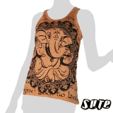 13,79 € Beautiful Motif - Ganesha very relaxed sitting and meditating on an orange shirt.