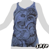 13,79 € Ganesha nice and kindly looking in a half profile - on a dark blue shirt.