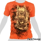 Pure Concept T-Shirt - Laughing Buddha (orange)