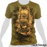 Pure Concept T-Shirt - Laughing Buddha (olive green)