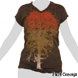 Pure Concept Lady Shirt - Tree of Life (anthracite)