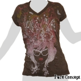 Pure Concept Lady Shirt - Hair Fantasy (anthracite)