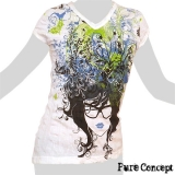 Pure Concept Lady Shirt - Hair Fantasy (white)