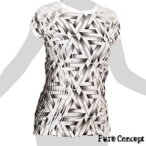 Pure Concept Lady Shirt - 3D Triangles Illusion (white)