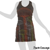 Pure Concept Tank-Dress - Magic Mushrooms (anthracite)