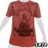 15,99 € Buddha - Respect - beautiful design, clear statement on a dark red T-shirt. Impalpable print on a large Shirt 100% cotton.