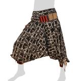 Bat Cut Hmong Aladdin Pants - Hilltribe Pants Intorn Naga - Bamboo
