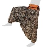 Hmong Aladdin Pants - Hilltribe Pants Naga - Square Sysmbols