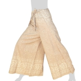 Side Slit Airy Wrap Pants Sativa Asterisk L - cream