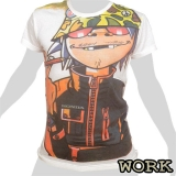 Work T-Shirt - Gorillaz (white) M, L, XL