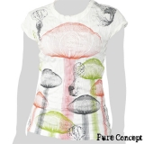 Pure Concept Lady Shirt - Magic Mushrooms (white)