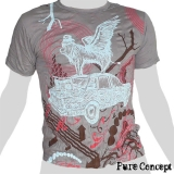 Pure Concept T-Shirt - Car Trip Fantasy (grey)