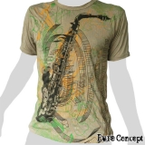 Pure Concept T-Shirt - Saxophone / Jazz (beige)