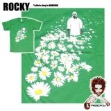 14,99 € Rocky T-Shirt - Achtung: Natur - Ein mann läuft durch ein Blumenfeld... mit einem Strahlenschutzanzug! Motiv-Druck von guter Qualität 100% Baumwolle