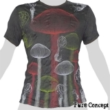Pure Concept T-Shirt - Magic Mushrooms (anthracite)