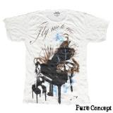 Pure Concept T-Shirt - Classic Piano Fantasy (white)