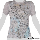 Pure Concept T-Shirt - Mystic Elephant-Dragon (light grey)