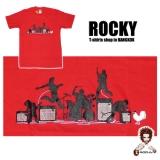 14,99 € Rock Band - live! by Rocky  Rock`n`Roll Live Konzert - die Band rockt auf der Bühne... Motiv-Druck von guter Qualität auf T-Shirt 100% Baumwolle