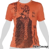 Pure Concept T-Shirt - Born to be Wild (orange)