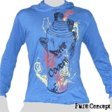 Pure Concept Hoody Shirt - Graffiti-Spray (blue)
