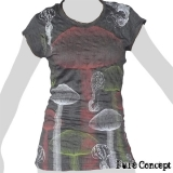 Pure Concept Lady Shirt - Magic Mushrooms (anthracite)
