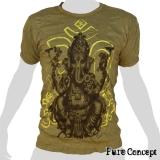 Pure Concept T-Shirt - Beautiful Ganesha (olive green)