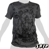 15,99 € Buddha - Respect - beautiful design, clear statement on a grey large T-shirt.