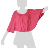 Sabaai Fabric - Wing-Sleeve Top - pink