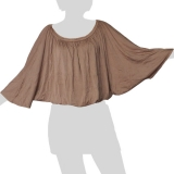 Sabaai Fabric - Wing-Sleeve Top - beige