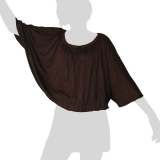 Sabaai Fabric - Wing-Sleeve Top - dark brown