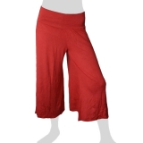 Sabaai Fabric - Calf-Length Flare Pants - red